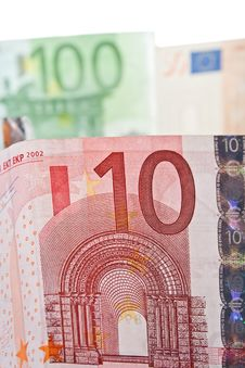 Free 10 Euro Bill Close Up Stock Images - 22371624