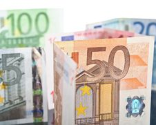 Free Different Euro Banknotes Royalty Free Stock Image - 22371646