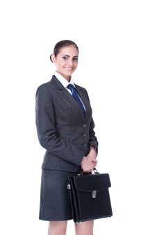 Free Businesswoman With Briefcase Stock Images - 22372384