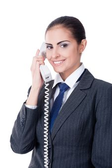 Free Businesswoman Speaking On Phone Stock Image - 22372411