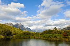 Free Lake And Mountains Royalty Free Stock Photo - 22372845