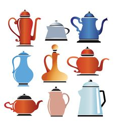 Free Colored Cookware Royalty Free Stock Photography - 22373577