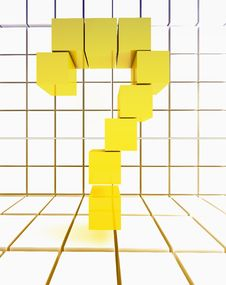 Free Yellow Box For Question Marks Royalty Free Stock Photography - 22373727
