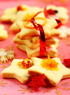Free Christmas Butter Cookies Royalty Free Stock Photography - 22375037