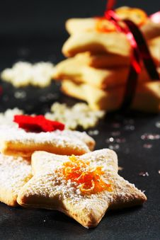 Free Christmas Butter Cookies Stock Photo - 22375040