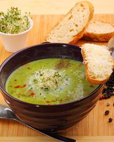 Free Green Pea Soup Stock Image - 22375071