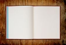 Book On Wooden Background Stock Image