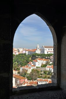 Free Castle View Lisbon Royalty Free Stock Photography - 22375937