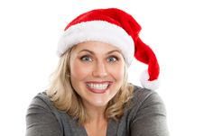Free Happy Christmas Woman Stock Images - 22379374