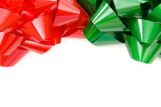 Free Red And Green Christmas Bows Royalty Free Stock Photography - 22379417