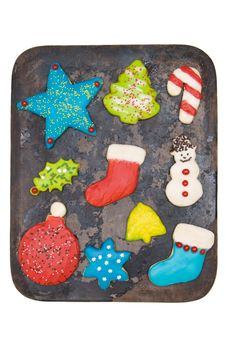 Free Iced Christmas Cookies Stock Photography - 22379432