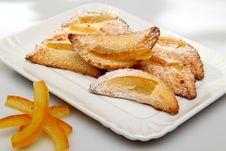Free Sweet Pastries Whit Orange Royalty Free Stock Photo - 22379455