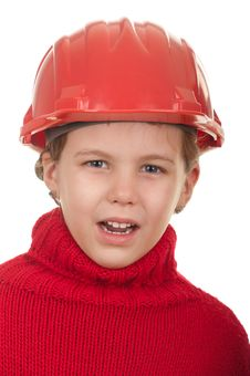 Free Girl With A Red Helmet Stock Photo - 22381400
