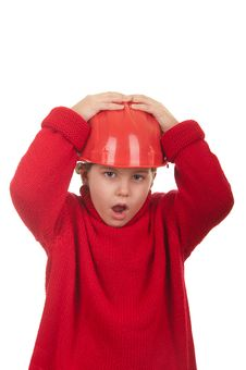 Free Girl With A Red Helmet Stock Photo - 22381410
