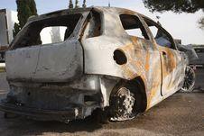 Free Burning Car Royalty Free Stock Images - 22383189