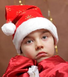 Free Portrait Of Boy In  New Year S Cap Royalty Free Stock Image - 22388086