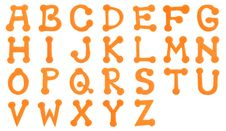 Orange Foam Alphabet Royalty Free Stock Photos