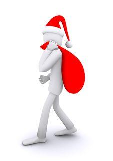 Free Going Santa Royalty Free Stock Photo - 22389465