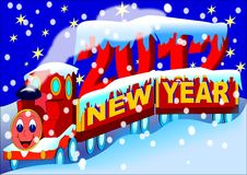 Free New Year Train 2012 Stock Photography - 22389732