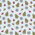 Free Christmas  Seamless Pattern Stock Photos - 22393953