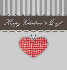Free Vector Valentine Background With Heart Royalty Free Stock Photos - 22390278