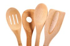 Free Wooden Kitchen Utensils Stock Images - 22390884