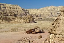 Free Canyon Of Geological Timna Park, Israel Stock Image - 22391531