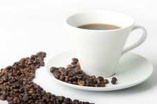 Free Cup Of Coffee Royalty Free Stock Images - 22392019