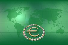 Free Euro Background Royalty Free Stock Photography - 22392667