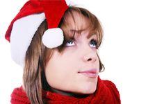Free Christmas Girl Royalty Free Stock Photography - 22394937