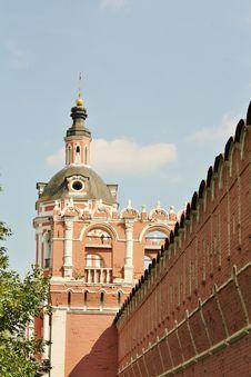 Free Monastery Wall Tower Stock Photo - 22395500