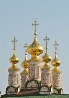 Free Golden Domes Of The Ryazan Kremlin Stock Images - 22395504