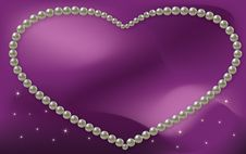 Free Vector Love Frame Pearl Royalty Free Stock Photo - 22398365