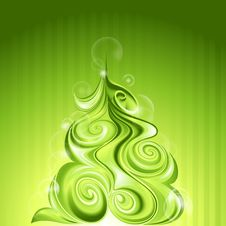 Free Shining Abstract Christmas Tree Stock Image - 22398651
