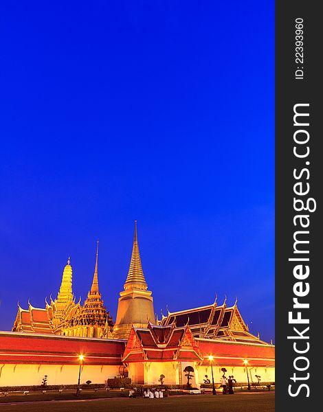 Thai grand palace temple