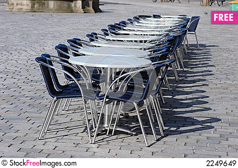 Free Closed Street Cafe Royalty Free Stock Images - 2249649