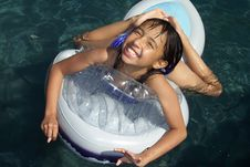 Free Pretty Girl In Pool Stock Photography - 2241422