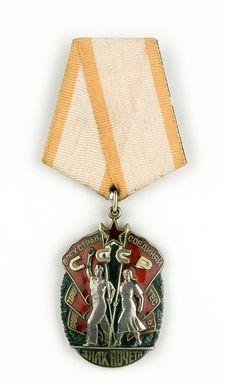 Free The Soviet Award Royalty Free Stock Photo - 2241955