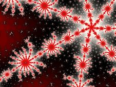 Free Fractal - Red Stars Royalty Free Stock Photography - 2242197