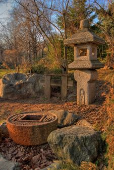 Free Japanese Fountain. HDR Image Stock Photos - 2242833