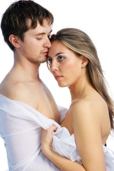 Girl And Man Together 7 Royalty Free Stock Photos