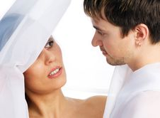 Girl And  Man Together 5 Royalty Free Stock Image
