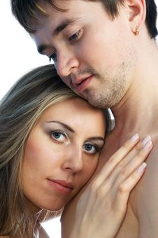 Girl And Man Together 1 Royalty Free Stock Photography