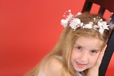 Free Flower Girl In Chair Stock Photos - 2244333