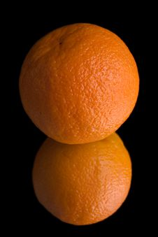 Free Orange On Mirror Royalty Free Stock Photos - 2244548