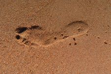 Free Footprint In The Sand Stock Images - 2246144