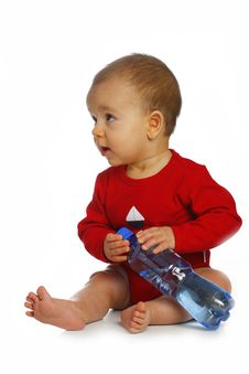 Baby With Bottle Royalty Free Stock Image