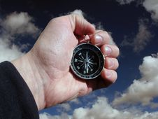 Free Compass In Hand Isolated Royalty Free Stock Image - 2248976