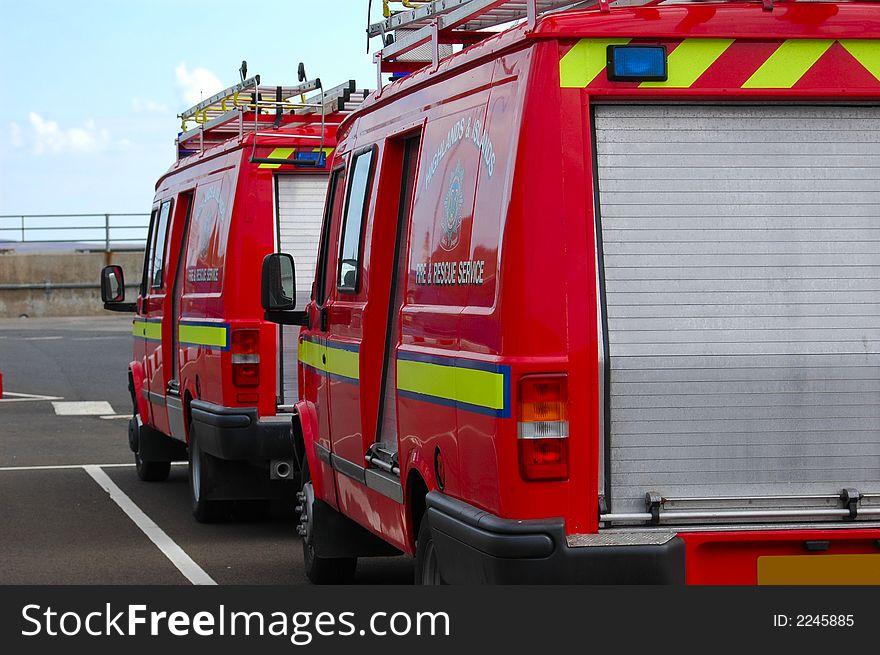 British Fire support vehicle