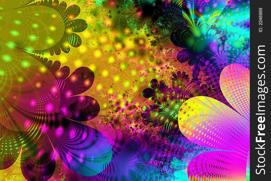 Abstract Retro Flower Art Texture